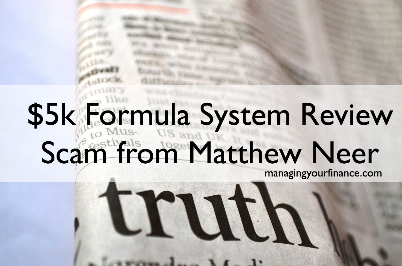 5k Formula System Review Scam From Matthew Neer