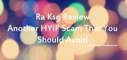 Ra Ksg Review - Another HYIP Scam That You Should Avoid