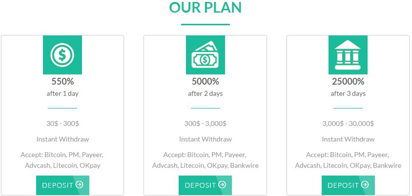 Real hyip investment plan