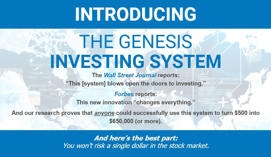 Genesis Investing System Review – Is It Legitimate or a Scam?