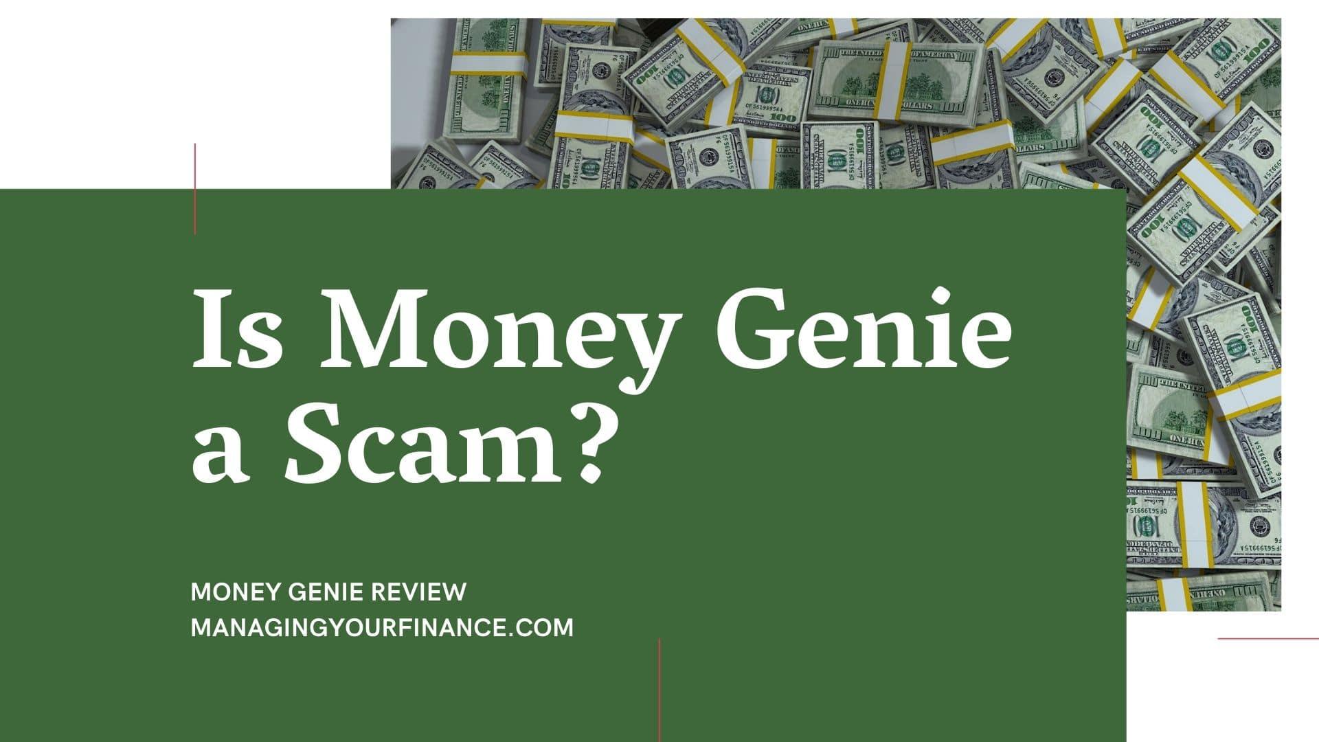 Money Genie a scam