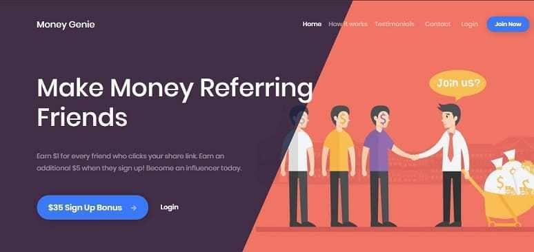 MoneyGenie Website